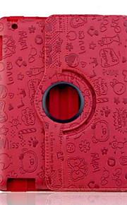 Case Kompatibilitás iPad 4/3/2 Állvánnyal Origami Héjtok Rajzfilm PU bőr mert iPad 4/3/2