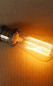 e27 60w st58 straight wire edison nipple tungsten art lighting decoration light source