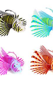 Akvariedekoration Kunstig fisk Selvlysende i mørke Silikone