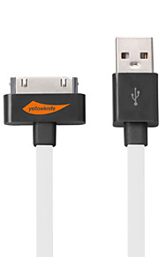Lightning USB 3.0 Sladd Laddningskabel Laddningssladd Data och synkronisering Platt Kabel Till Apple iPhone iPad 100