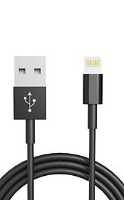 USB 2.0 Verlichting USB kabeladapter Data & Synchronisatie Oplaadkabel Normaal Kabel Voor iPad iPhone 100 cm TPU