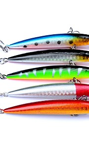 "5 pcs Hard Bait Minnow Fishing Lures Hard Bait Minnow Assorted Colors g/Ounce,90 mm/3-1/2"" inch,Hard PlasticSea Fishing Bait Casting"