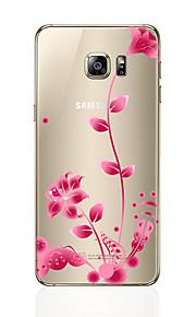 Custodia Per Samsung Galaxy S7 edge S7 Transparente Fantasia/disegno Custodia posteriore Fiore decorativo Morbido TPU per S7 edge S7 S6