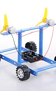 Crab Kingdom®  Model Assembled DIY Technology Handmade DIY Blue Wind Car Number 18