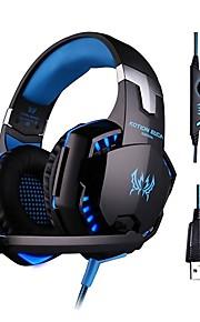 Over øre / Pannebånd Med ledning Hodetelefoner Plast Gaming øretelefon HIFI / Med volumkontroll / Med mikrofon Headset