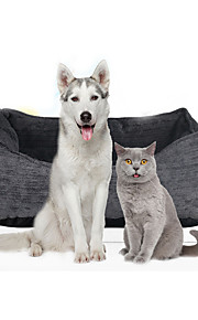 Cat Dog Bed Pet Mats & Pads Solid Soft Gray