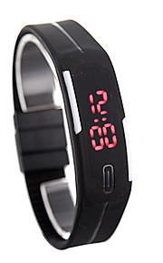 led watch date красный цифровой прямоугольник набор резинка мужской мужской наручные часы силикон вел дети часы спорт