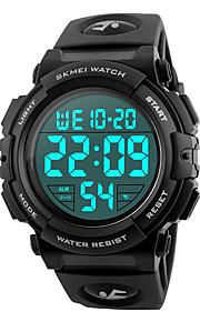 SKMEI Herre Digital Digital Watch / Armbåndsur / Militærur / Sportsur Japansk Alarm / Kalender / Kronograf / Vandafvisende / Stor urskive