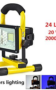 Lanternas de Mão LED 2000 lumens lm 3 Modo LED Alarme Resistente ao Impacto Emergência Super Leve Alta Intensidade Campismo / Escursão /