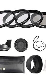 Andoer 49mm objektivfilter kit (uv cpl star8 close-up4)