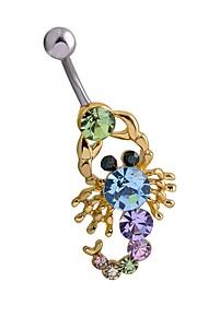 Dame Kropssmykker Navleringe Geometrisk luksus smykker Statement-smykker Chrismas Klassisk Zirkonium Rhinsten Titanium Stål Geometrisk