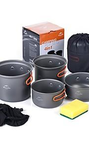 Naturehike Camping Cookware Mess Kit Camping Pot Sets Portable Aluminium alloy for Camping Picnic Camping & Hiking BBQ