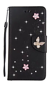Custodia Per Samsung Galaxy S8 Plus S8 A portafoglio Porta-carte di credito Con diamantini Con supporto Con chiusura magnetica Integrale