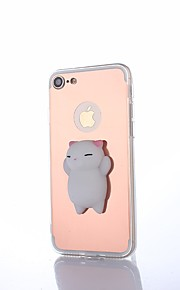 Etui Til Apple iPhone 8 Plus Spejl squishy GDS Bagcover Kat Helfarve 3D-tegneseriefigur Hårdt PC for iPhone X iPhone 8 Plus iPhone 7 Plus