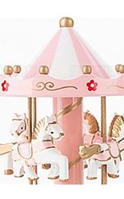 Bolas Caixa de música Brinquedos Cavalo Carrossel Flor Plásticos Madeira Peças Unisexo Aniversário Dom