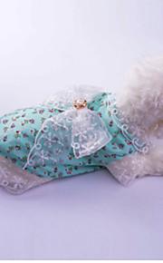 Hond Jurken Hondenkleding Prinses Rood Groen Katoen Kostuum Voor huisdieren Dames Casual/Dagelijks