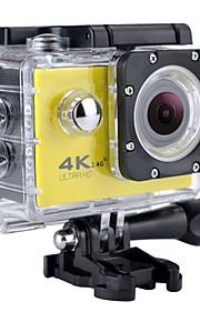SJ7000 / H9K كاميرا ستاي / كاميرا النشاط 12 mp GoPro 2592 x 1944 بكسل / 3264 x 2448 بكسل / 2048 x 1536 بكسل ضد الماء / Wifi / 4K 60FPS / 30fps / 24fps لا +1 / -1 / +2 2 بوصة CMOS 32 GB H.264