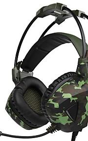 a931 over ørehovedbåndet kablet hovedtelefoner dynamisk plast gaming øretelefon med mikrofon med lydstyrke headset