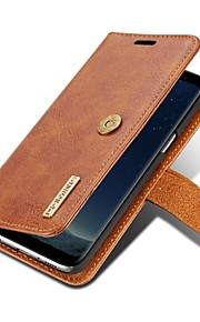 Custodia Per Samsung Galaxy S8 Plus S8 A portafoglio Porta-carte di credito Con chiusura magnetica A calamita Integrale Tinta unica