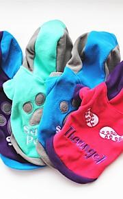 Hond Hoodies Hondenkleding Meetkundig Paars Fuchsia Groen Blauw Fleece Kostuum Voor huisdieren Casual/Dagelijks