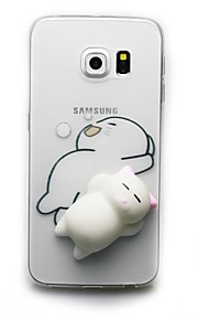 """Custodia Per Samsung Galaxy S8 Plus S8 Transparente Fantasia/disegno Fai da te squishy Custodia posteriore Gatto Fantasia """"Cartone 3D"""""""