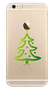 케이스 제품 Apple 투명 패턴 뒷면 커버 나무 크리스마스 소프트 TPU 용 iPhone X iPhone 8 Plus iPhone 8 아이폰 7 플러스 아이폰 (7) iPhone 6s Plus iPhone 6 Plus iPhone 6s 아이폰