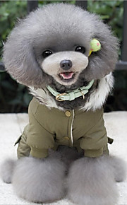 Dog Clothes Cotton Spring/Fall Winter Casual/Daily Keep Warm Christmas Cartoon Green Khaki For Pets