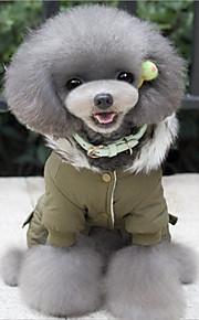 Hundekleidung Lässig/Alltäglich warm halten Weihnachten Karton Grün Khaki Kostüm Für Haustiere