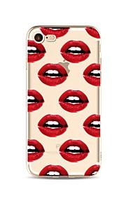 Кейс для Назначение Apple iPhone X iPhone 8 iPhone 8 Plus Прозрачный С узором Задняя крышка Плитка Соблазнительная девушка Мягкий TPU для