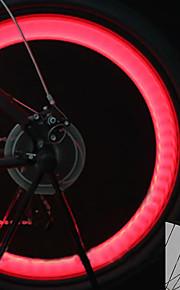 פנסי אופניים / אורות מהבהבים כובע שסתום / אורות גלגל LED פנסי אופניים רכיבת אופניים תאורה אחורית, מצבי מרובות סוללות לטלפונים סלולריים סוללה רכיבה על אופניים / motocycle / IPX-4