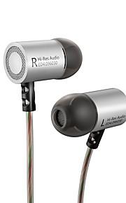KZ ED4 I øret Ledning Hovedtelefoner Dynamisk Aluminum Alloy Mobiltelefon øretelefon Støj-isolering Med Mikrofon Headset