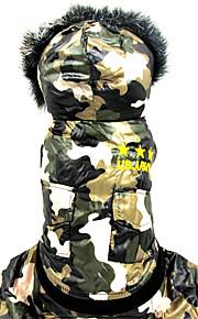 Cane Tuta Abbigliamento per cani Casual Geometrico Camouflage colore