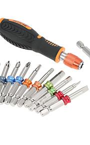 12 en 1multi herramienta destornillador profesional conjunto destornillador de anillo de color multifuncional imán brocas kit herramienta