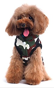 Cat Dog Coat Vest Dog Clothes Terylene Spring/Fall Winter Casual/Daily Double Sided Chrismas Halloween Letter & Number Camouflage Color