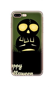 Funda Para Apple iPhone X iPhone 8 iPhone 8 Plus Diseños Cubierta Trasera Halloween Suave TPU para iPhone X iPhone 8 Plus iPhone 8 iPhone