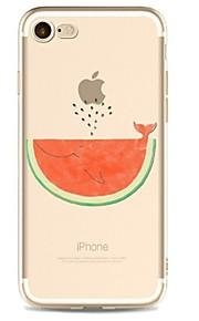 케이스 제품 Apple iPhone X iPhone 8 iPhone 8 Plus 울트라 씬 투명 패턴 뒷면 커버 과일 소프트 TPU 용 iPhone X iPhone 8 Plus iPhone 8 아이폰 7 플러스 아이폰 (7) iPhone 6s