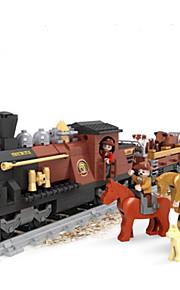 Byggeklodser Tog Legetøj Tog Dyr Tegneserie Stilleben Køretøjer Dyr Mode Stk.