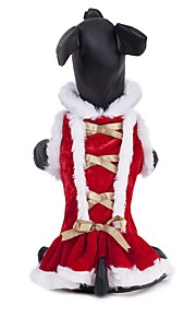 Kat Hond Jassen Jurken Hondenkleding Effen Rood Pluche stof Kostuum Voor huisdieren Feest Casual/Dagelijks Cosplay Houd Warm Sport