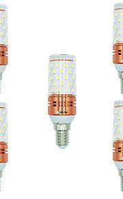 5pcs 12W E14 LED-kornpærer T 60 leds SMD 2835 Varm hvit Hvit Dual Light Source Color 1000lm 3000-3500  6000-6500  3000-6500K AC 220-240V