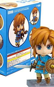 נתוני פעילות אנימה קיבל השראה מ The Legend of Zelda קישור PVC 10 CM צעצועי דגם בובת צעצוע