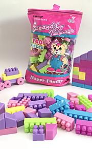 GDS-set Byggklossar Tåg Leksaker Släp Hus Tecknat tecknad Shaped Hus Familj Handväskor Tecknade leksaker GDS (Gör det själv) Tecknad