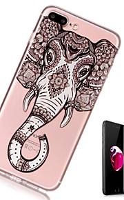 Custodia Per Apple iPhone X iPhone 8 Plus Transparente Fantasia/disegno Custodia posteriore Elefante Morbido TPU per iPhone X iPhone 8
