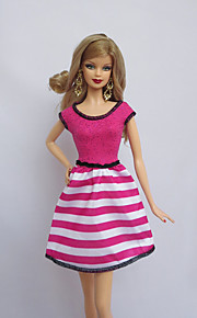 Party/Evening Dresses For Barbie Doll Fuschia For Girl's Doll Toy