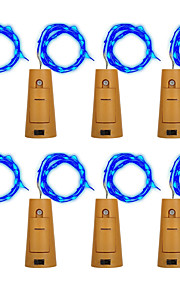 brelong 8x 1m 10led vinflaske kobber streng lys for julen bryllup fest dekorasjoner