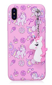 Custodia Per Apple iPhone X iPhone 8 Plus IMD Fantasia/disegno Fai da te Custodia posteriore Unicorno Morbido TPU per iPhone X iPhone 8