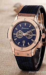Men's Casual Watch Fashion Watch Chinese Quartz Calendar Chronograph Rubber Band Casual Elegant Christmas Black Khaki