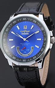WINNER Homens Relógio Elegante Relógio de Pulso relógio mecânico Automático - da corda automáticamente Calendário Couro Banda Luxo Casual