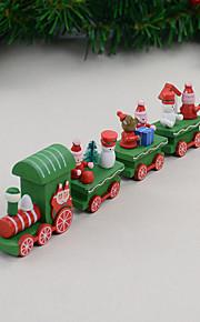 4 stk / sett julegave tre tog hjem dekorasjon barn gave 21,5 * 5 * 3cm