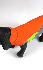 חתול כלב מעילים עמיד ללחות/מים Waterproof וסט פוט פילר חגורה מחזירת אור בגדים עמידים לקור בגדים לכלבים בד פליז ארקטי קיץ/אביב חורף יום