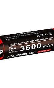 KLARUS 18GT-36 batteri Bärbar Professionell Enkel att bära Hög kvalitet Lättviktig för 18650 Li-jon